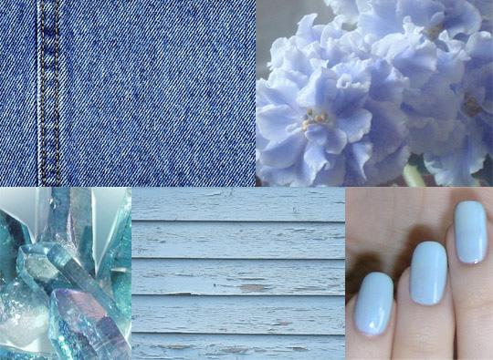 Голубой лак